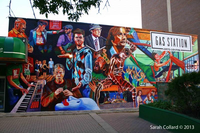 Gas Station Art Centre Mural, by Sarah Collard