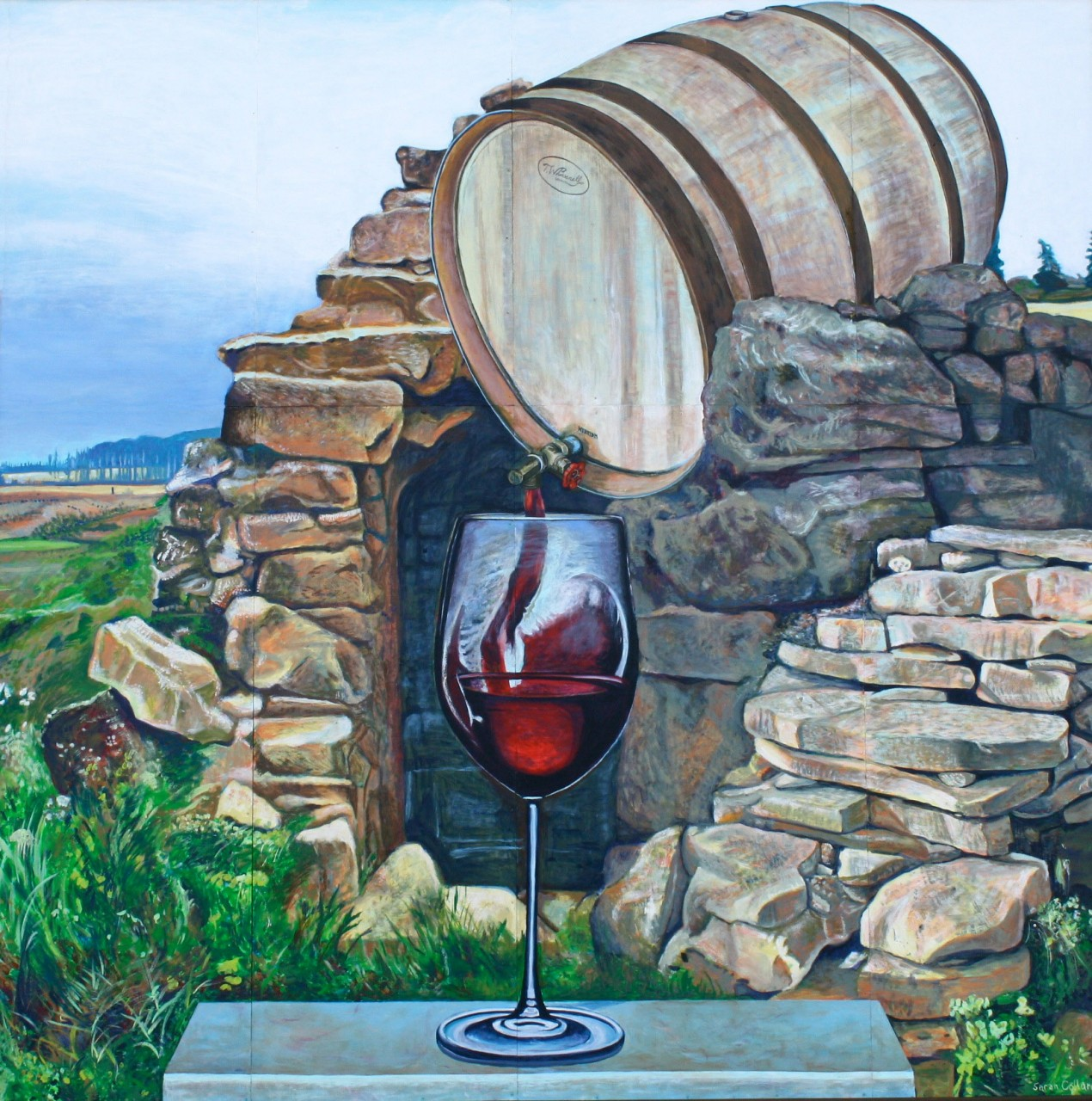 Winery; Barrel and Vineyard