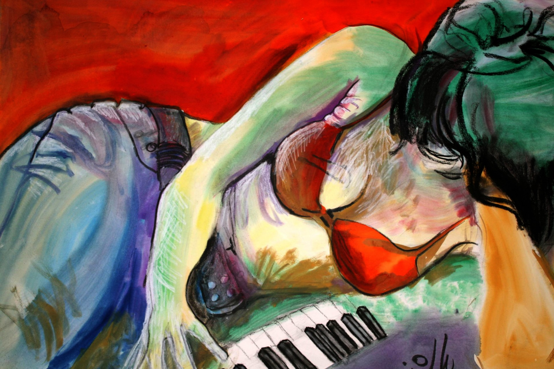 Music Red Piano
