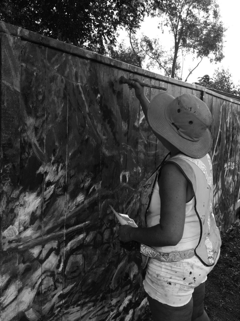 Mom bw painting good one